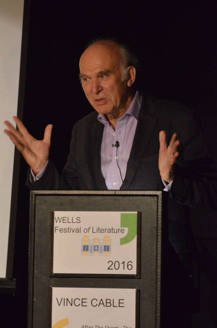 Vince Cable - 2016 Wells Festival of Literature
